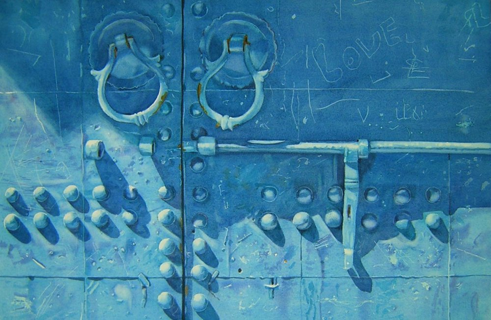 Blue door, Marrakech - 32 x 49cms