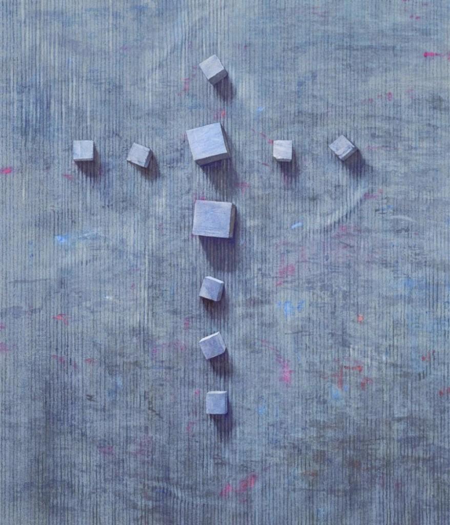 Cube cross - 59 x 51cms