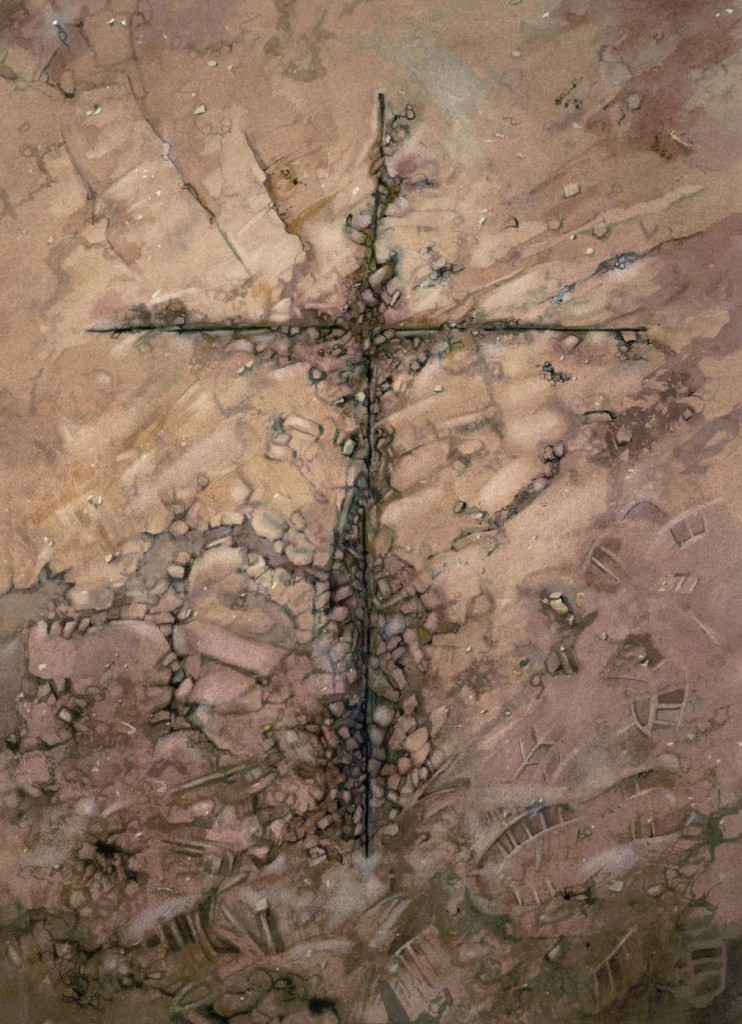 Earth cross - 65 x 49 cms