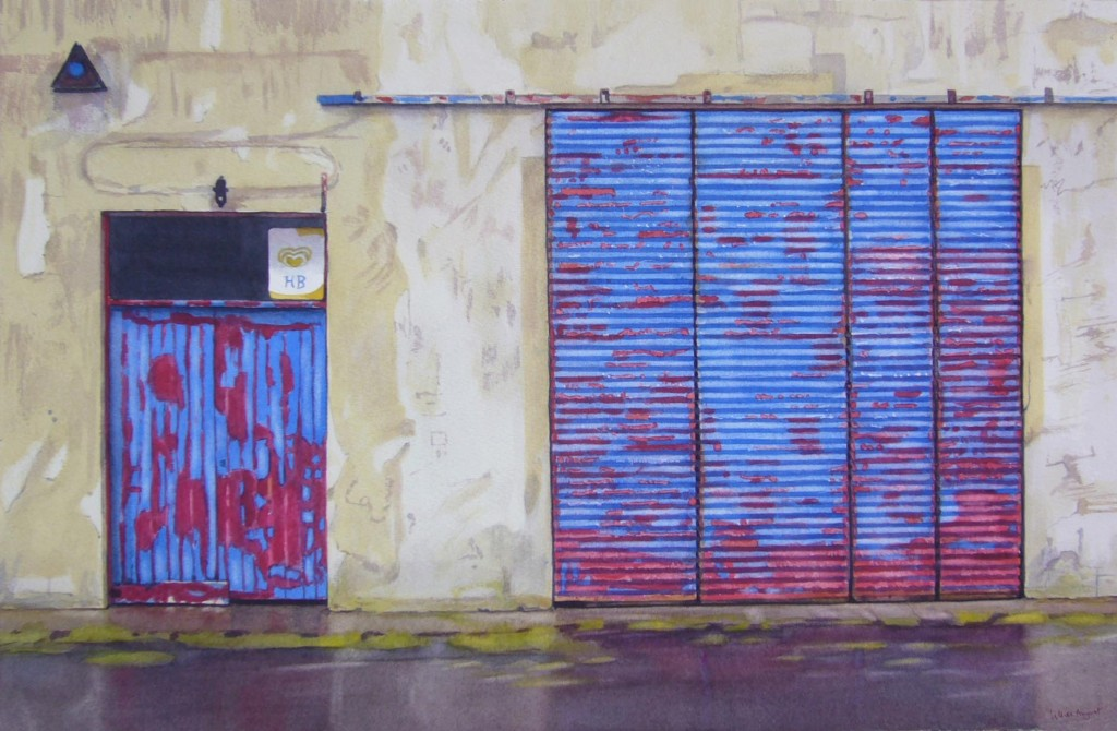 Ice cream garage 33 x 51cm
