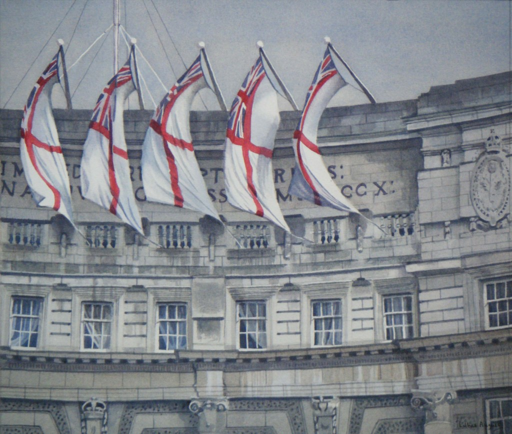 Jubilee flags, Admiralty Arch - 25 x 29cm