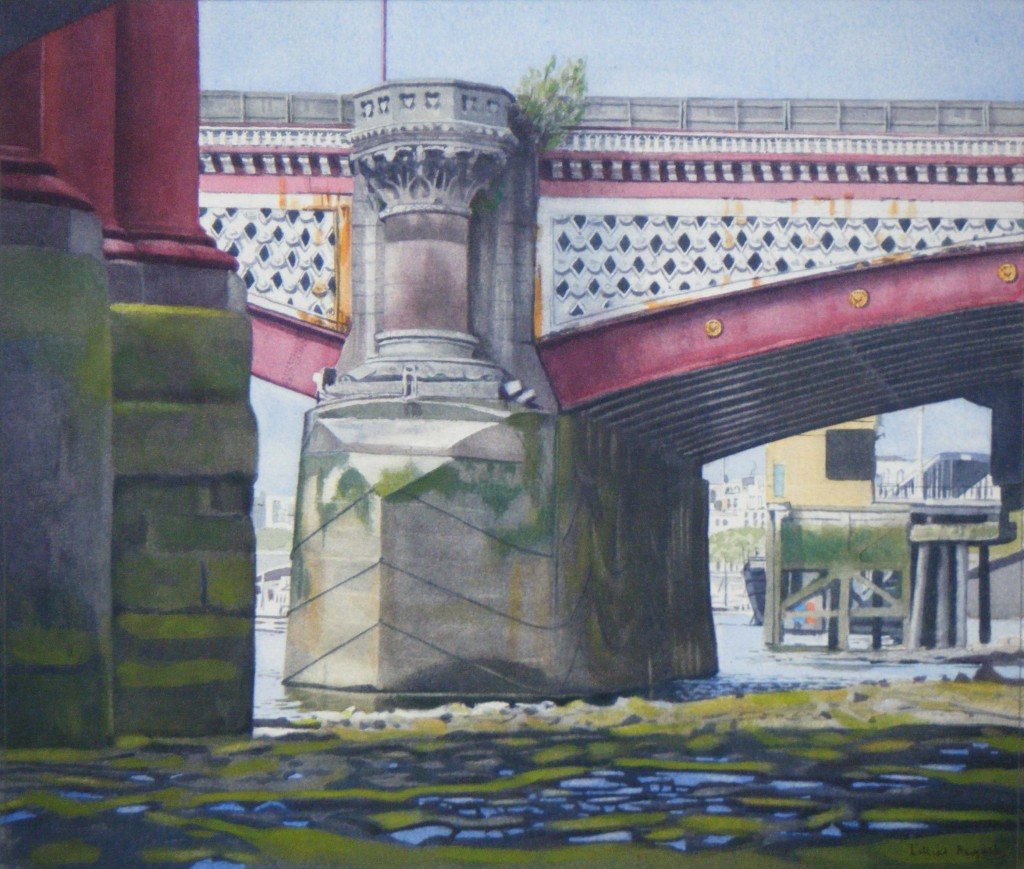 Low tide, Blackfriars Bridge - 25 x 29cm