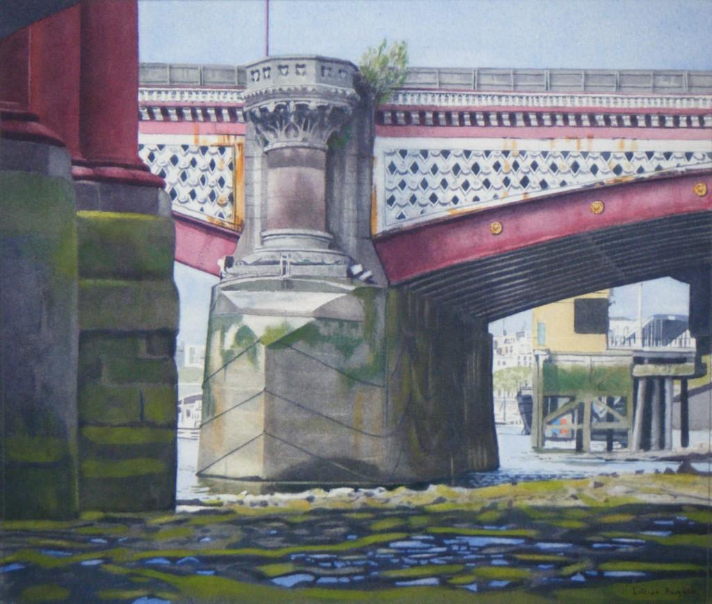 Low tide, Blackfriars Bridge - 25 x 29cm