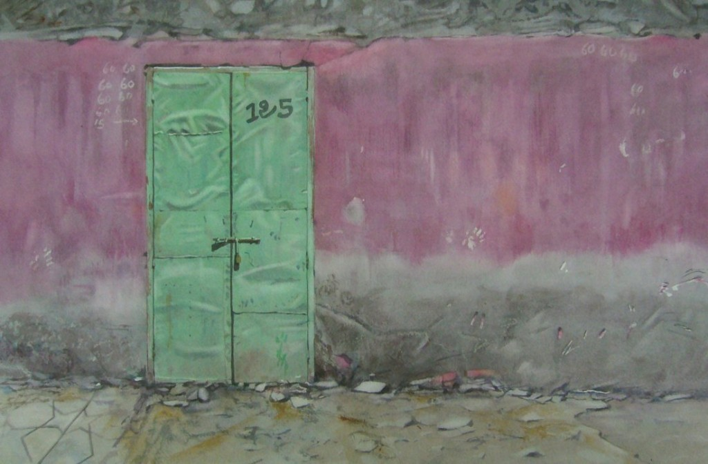 Metal door, Marrakech 31 x 47cm