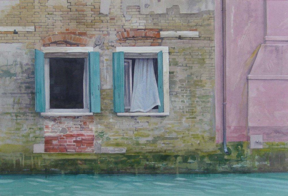 Net Curtain, Venice 34 x 49cm