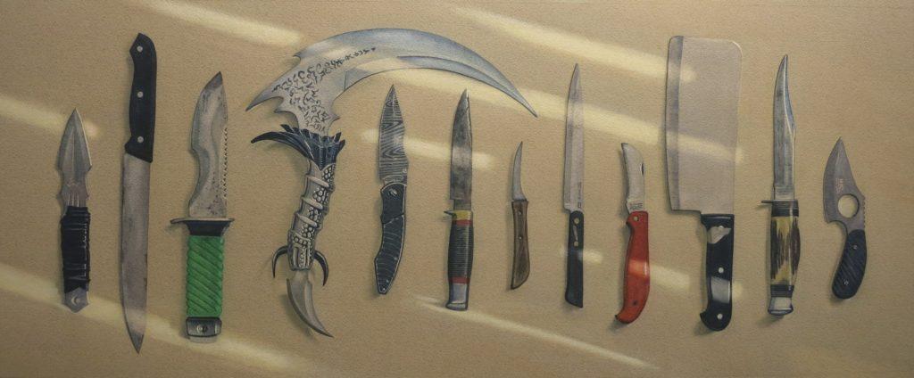 Amnesty knives 41 x 96cm