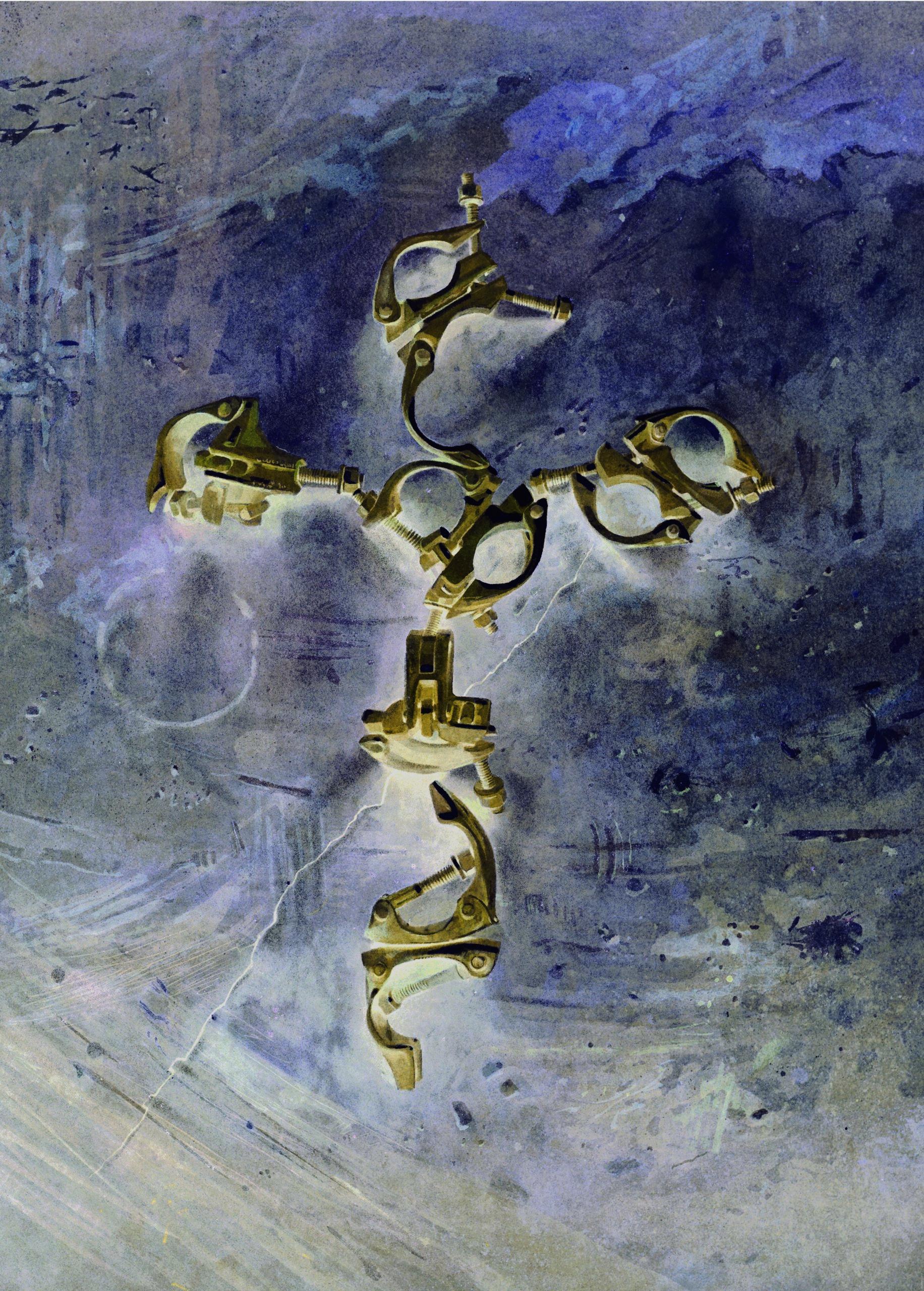 Clip Cross, transfigured - digital conversion 68 x 49