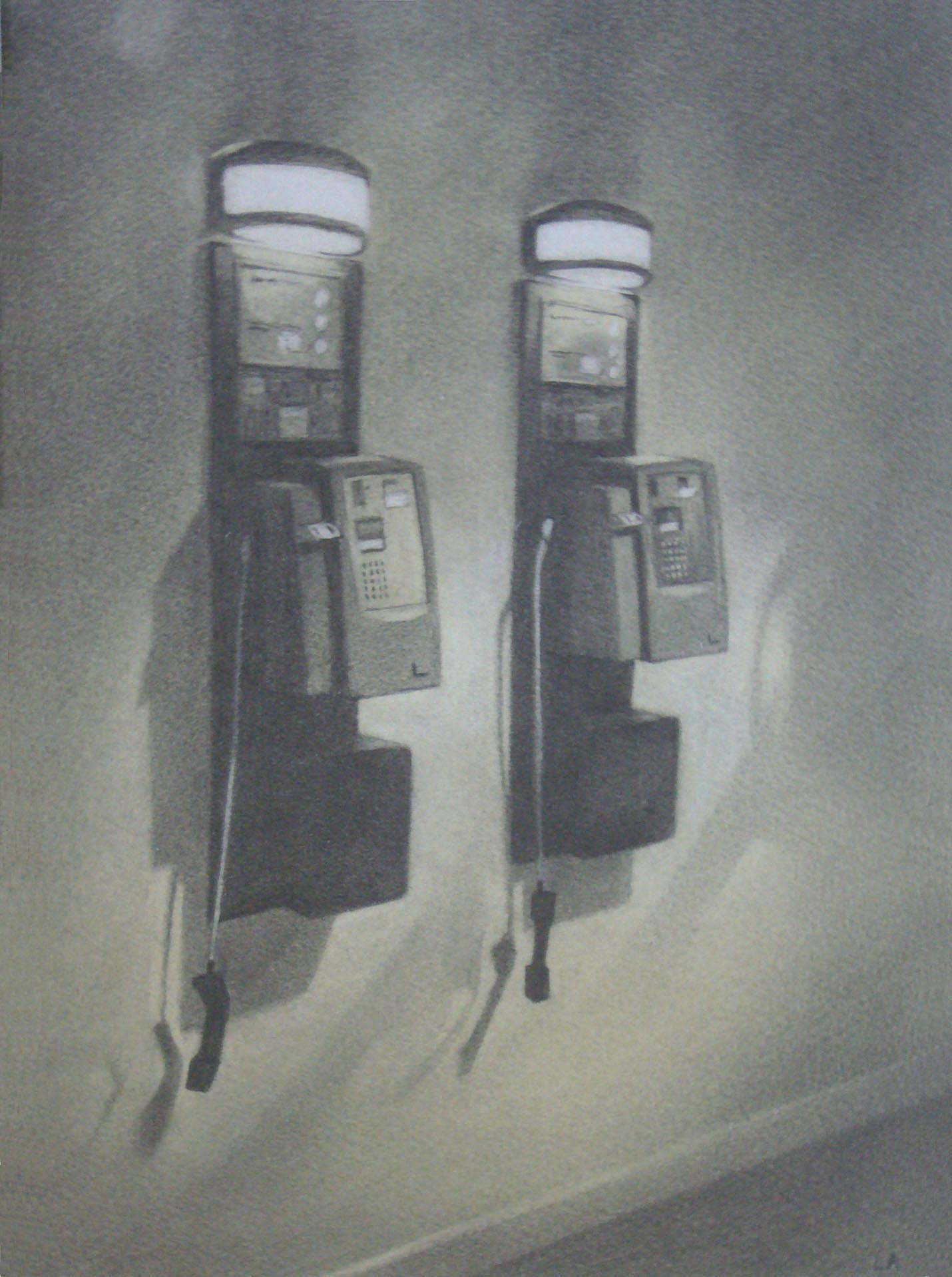 Disconnected 32 x 22 Pencil and wash
