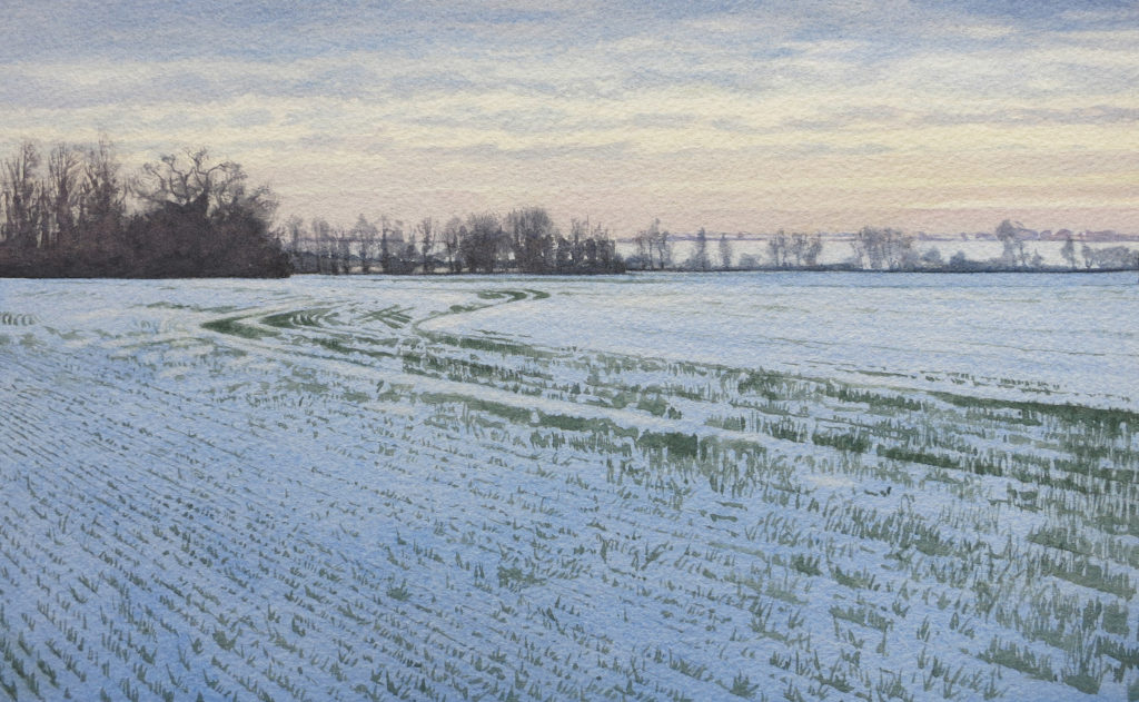 Distant snows 19.5 x 32cm