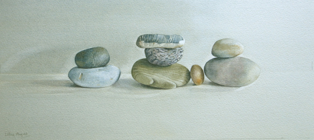 Eight pebbles - 18 x 41cm