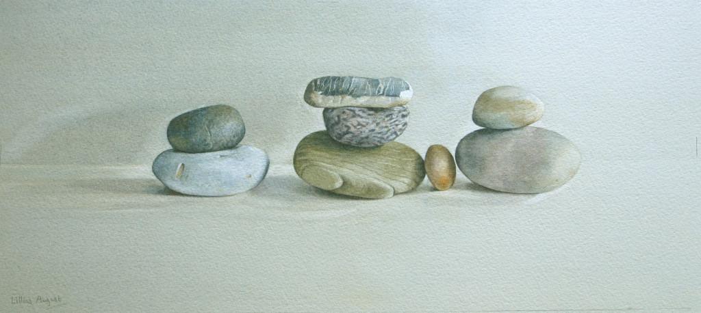 Eight pebbles - 18 x 41cm