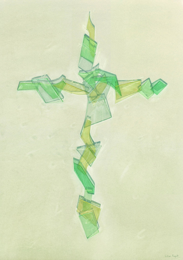 Glass cross - 71 x 50cm