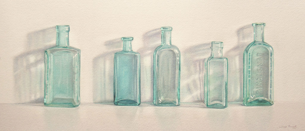Lung tonic and other bottles, 20.5 x 47.5cm