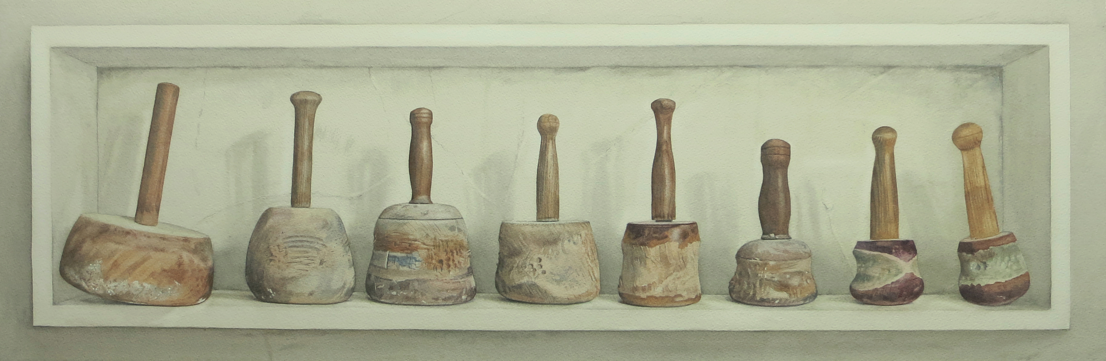 Mallets 31.5 x 96cm Watercolour by Lillias August ©