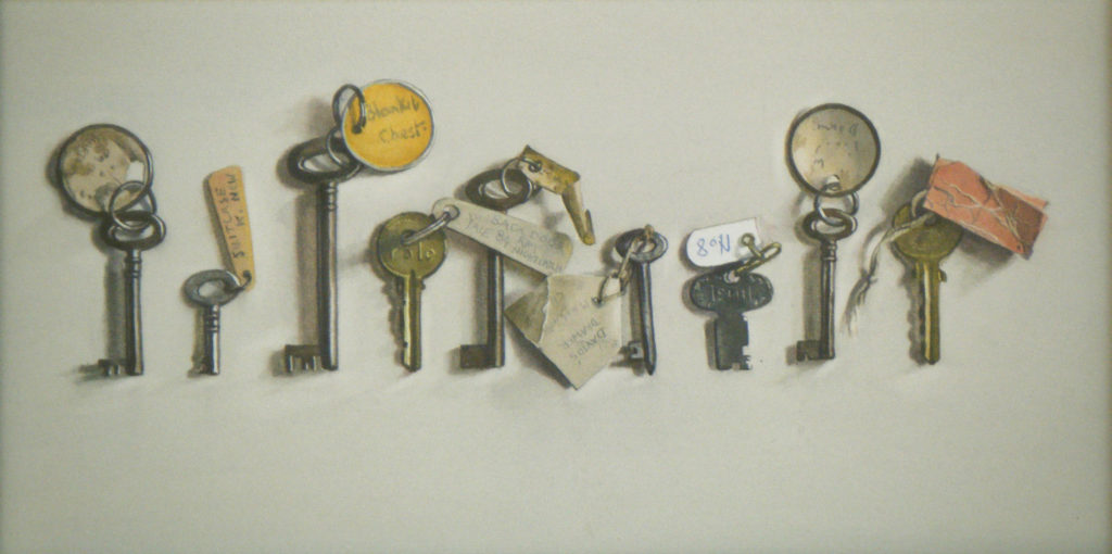 Nine keys 17 x 33cm