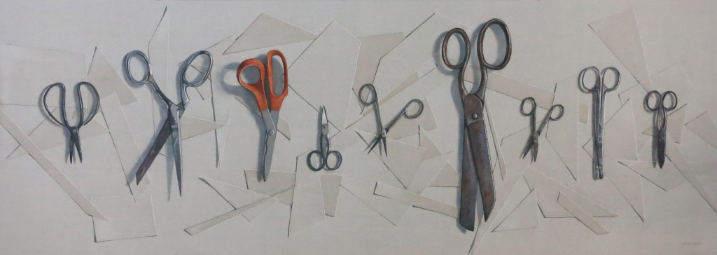 Nine scissors  -  39 x 96.5cm