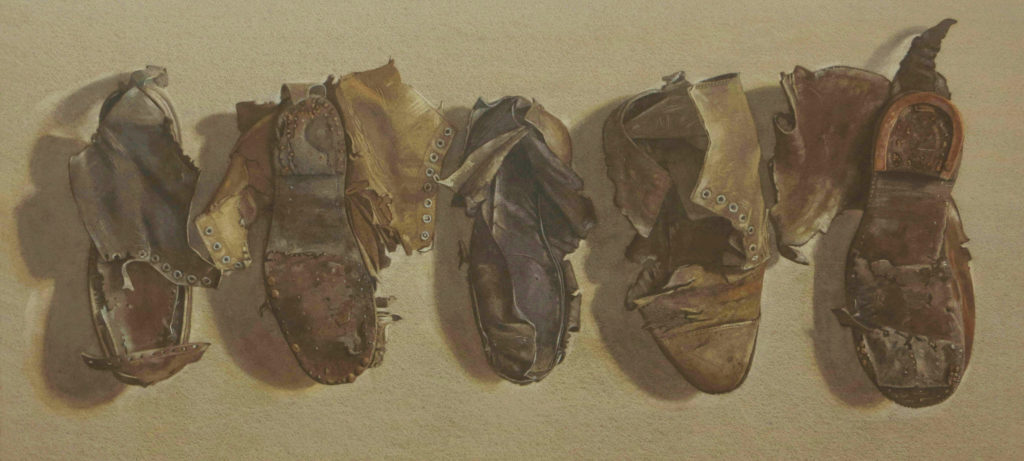 Old boots 43 x 94cm