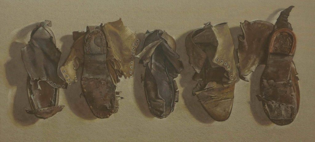 Old boots 92 x 42cm b