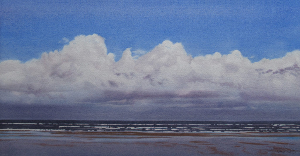 Out to sea 28 x 55cm