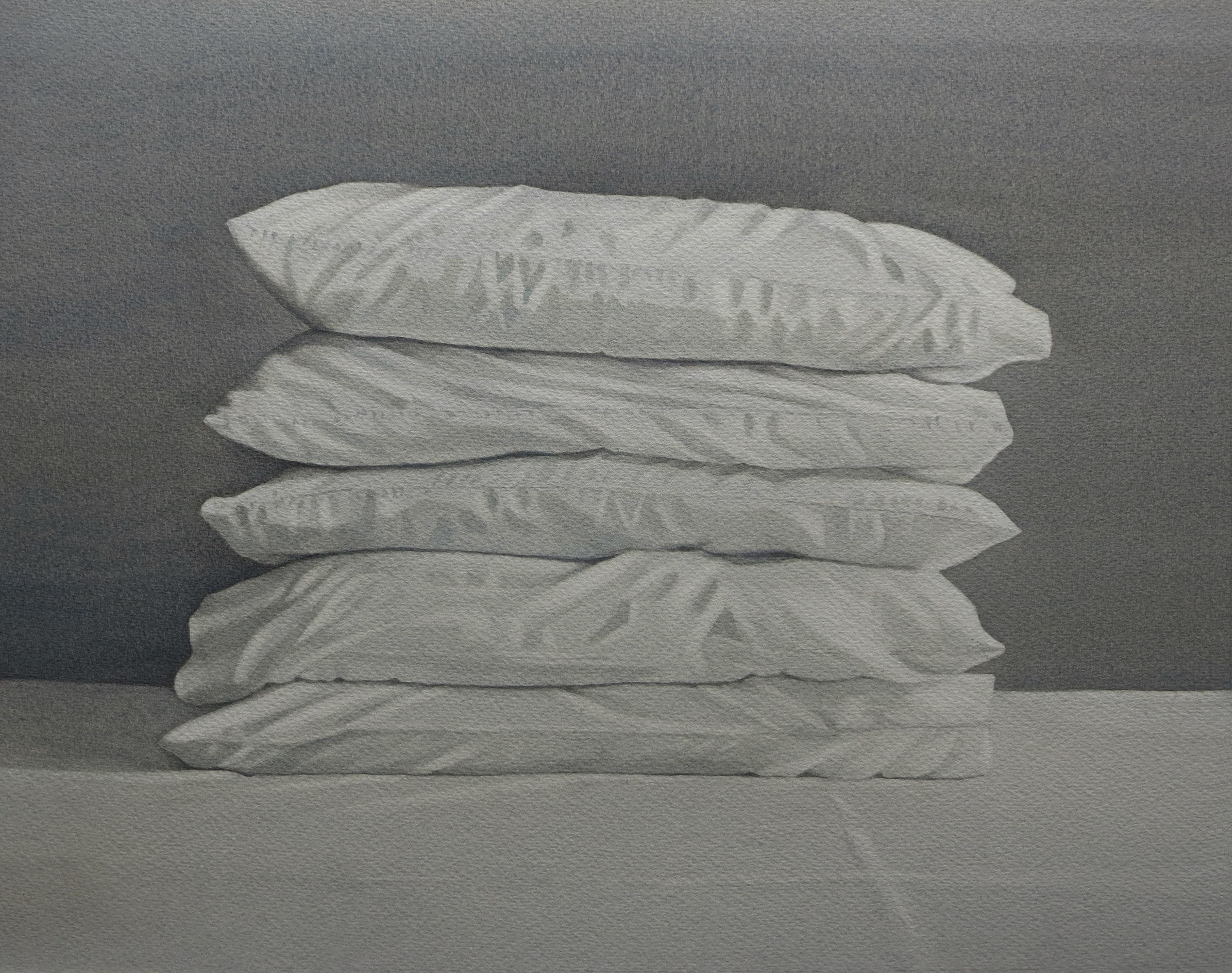 Pile of pillows 33 x 41.5cm watercolour by Lillias August©