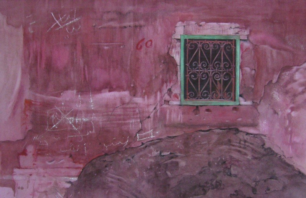 Red 60, Marrakech - 30 x 47cms