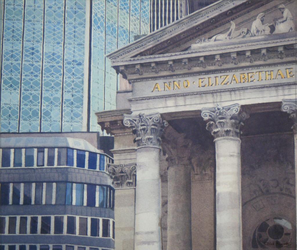 Royal Exhange, City of London - 25 x 29cm