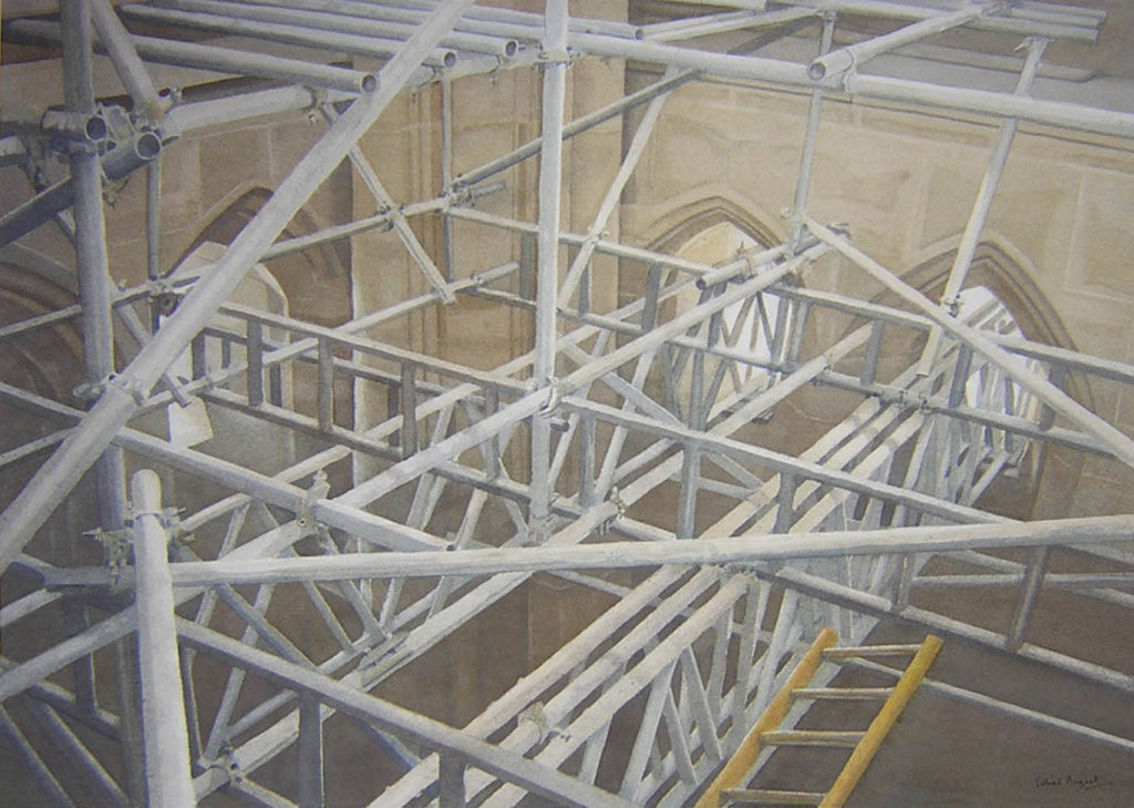 Scaffold and ladder 39 x 55cm