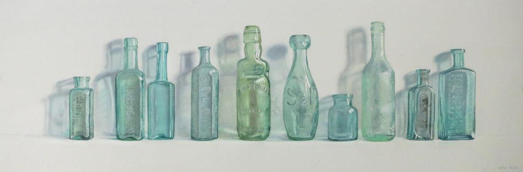 Ten green bottles 30 x 89cm