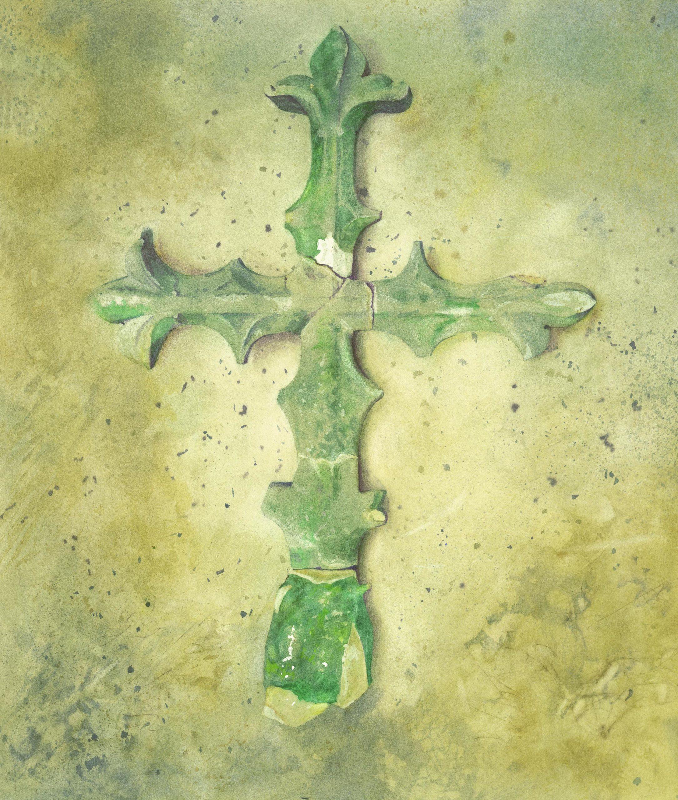 The Cross watercolour 56 x 48cm