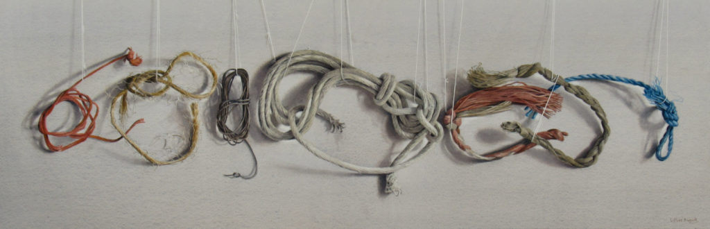 Tied up in knots 29 x 91cm