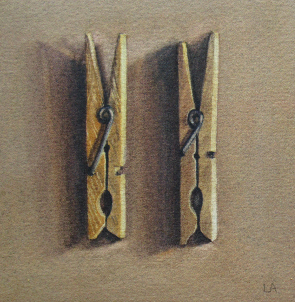 Two clothes pegs 11 x 10.5cm
