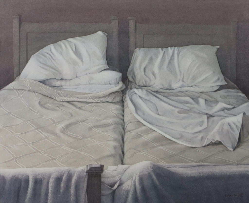 Unmade beds I 33 x 41.5cm