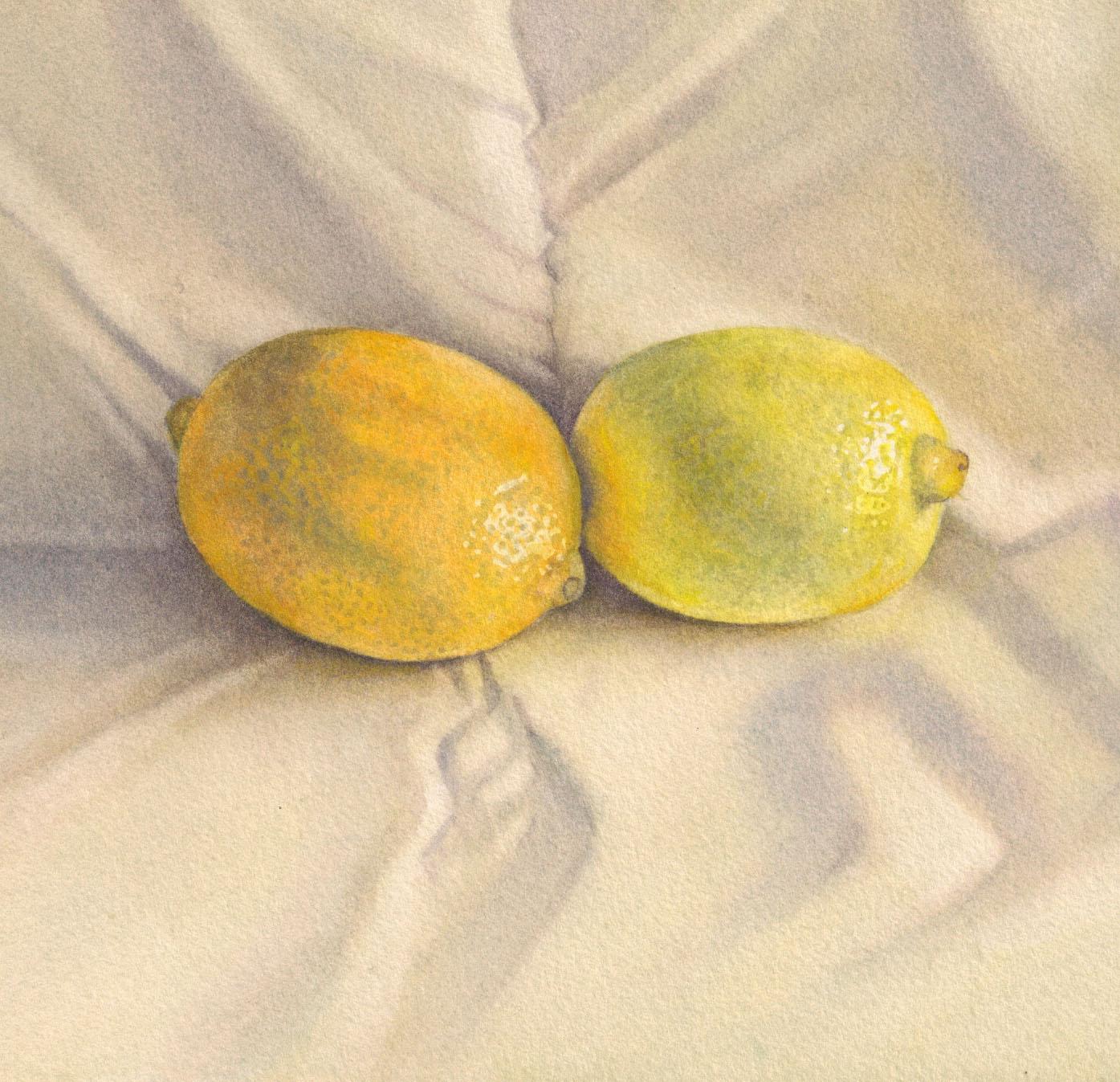 Two yellows, gicleé print 15.5 x 16.7cm